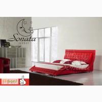 Кровать из кожи для стильной спальни Sonata Mobel (Соната Мобель / Соната Мебель)