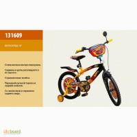 Велосипед 2-х колес. 16 дюймов Hot Wheel со звонком, зеркалом, 131609