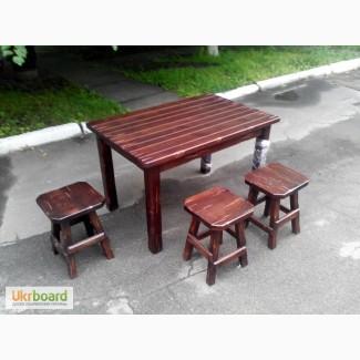 Купить стол из массива дерева бу