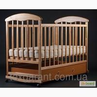 Детская кроватка Наталка ящик светлый (ясень)