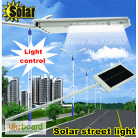 Светильник фонарь на солнечной батарее 15 LED светодиодов с датчиком освещенности