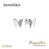 Оригинал PANDORA серьги бабочки 290693CZ