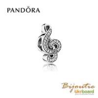 Оригинал PANDORA шарм скрипичный ключ 791381CZ