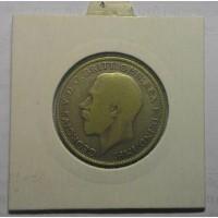 Великобритания 1 флорин 1922 год СЕРЕБРО!!! дм. 28, 3 мм, вес 11, 3 г