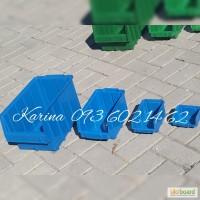 Ящики пластиковые под метизы цветные Арт. 702 складские ящики