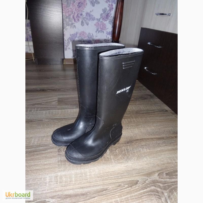 Продам фирменные резиновые сапоги сапожки Dunlop 39 размер гумові чоботи  б у Португалия ... 43049274209be