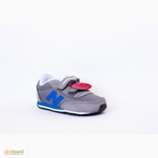 125 мм New Balance 410 кроссовки детские на липучке+ увеличенная полнота
