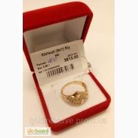 Кольцо золотое женское с камнями, размер 18. Вес 3, 85 грамм