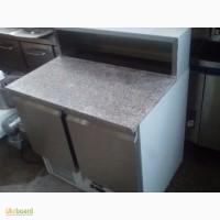 Пицца- стол холодильный новый 2 двери с мраморной столешней