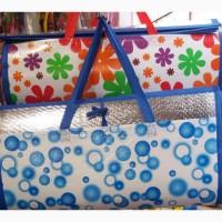 Пляжный коврик -сумка соломенный +фольга, размеры разные