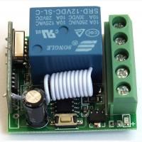 Одноканальный приемник реле 433 мГц 12в