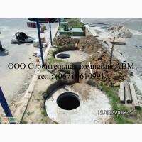 Устройство наружной канализации, монтаж септика из бетонных колец