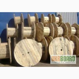 Поддоны, кабельные барабаны, ящики, планка, тара деревянная.
