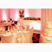 Оформление зала, украшение свадеб тканями, свадебная флористика,