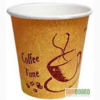 Стаканы бумажные, картонные для кофе и чая купить в Нижнем