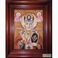 Именные янтарные иконы