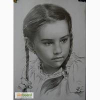 Портрет на заказ, по фото, недорого, карандаш Киев