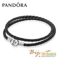Оригинал Кожаный браслет Pandora