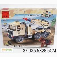 Конструктор Brick Машина с ракетной установкой, 310 дет., 822
