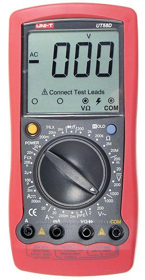 Мультиметр универсальный UNI-T UT58D Мультиметр универсальный UNI-T UT58D используется не