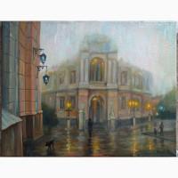 Продажа картин в Одессе. Картина Оперный в тумане 35х45см