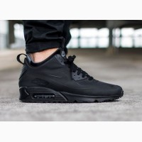 Кроссовки Nike Air Max90 Winter Gym Mid Black мужские черные