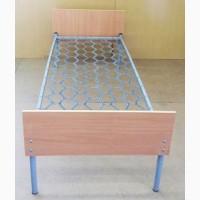 Кровать металлическая, спинка ДСП, 190х80