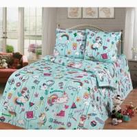 Единороги Dreams - стильное детское постельное белье для девочек (100% хлопок)