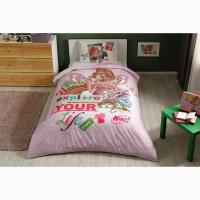 Детская постель винкс флора подростковый комплект tac winx flora fairytale