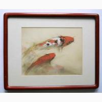 Винтажная картина для интерьера Peggy Pai Рыбки