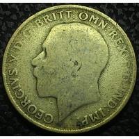 Великобритания, 1 флорин 1922 год СЕРЕБРО!!! вес 11.3