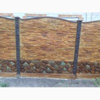 Цветные бетонные заборы, установка по Запорожью