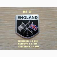 Наклейка на авто Флаг Англии алюминиевые на авто