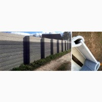 Крафтовый забор современный и стильный дизайн
