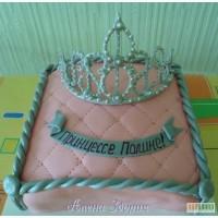 Торт для маленькой принцессы Подушечка с короной