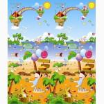 Двухсторонний детский игровой коврик BabyPol, бебипол