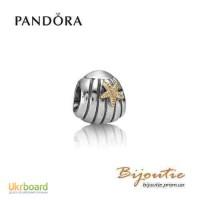 Оригинал Pandora шарм серебряно-золотой морская раковина790279