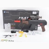 Автомат АК-47 с гелевыми пульками, очки аккум., глушитель кор. M47-5