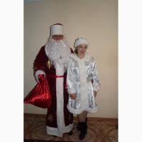 Дед Мороз и Снегурочка, собачки