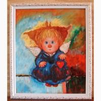 Картина маслом на подарок Сердце моё Чувиляева КОПИЯ
