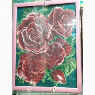 Продам картину розы ручной работы