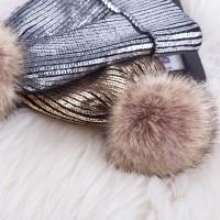 Хит продаж 2018-19.Женская шапка с блестящим напылением.Акрил