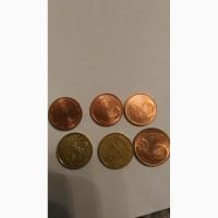 1, 2, 5, 10 Евро центы