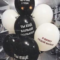 Подарок парню на день рождение заказать шарики Киев, оскорбительные шарики Киев