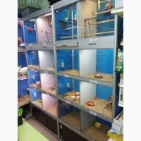 Стеллаж для зоомагазинов, для продажи комнатных животных и птиц