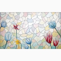 Интерьерная картина маслом на холсте Тюльпаны 30х50 см