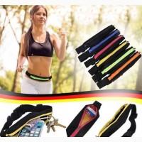 Ремень-сумка спортивная (поясная) для бега и велопрогулки сумка бананка водонепроницаемая