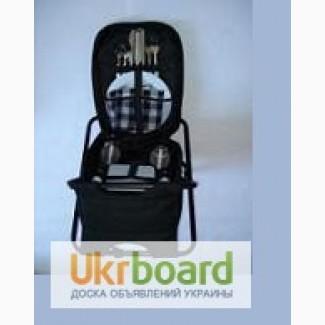 Набор для пикника на 2х человек, рюкзак-стул, посуда, с термоотсеко