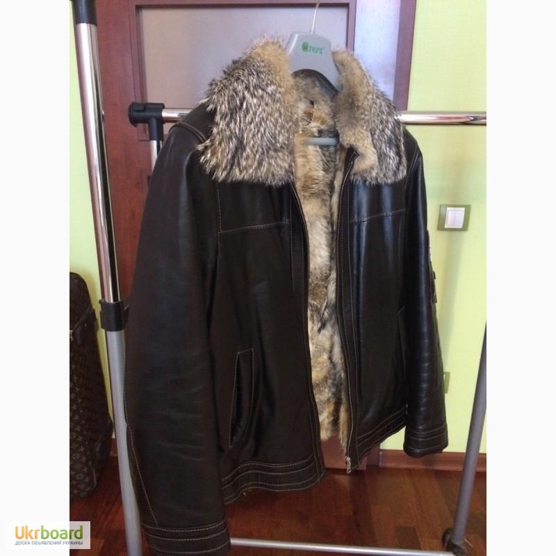 65a341fc959 Продам кожаную куртку с мехом волка