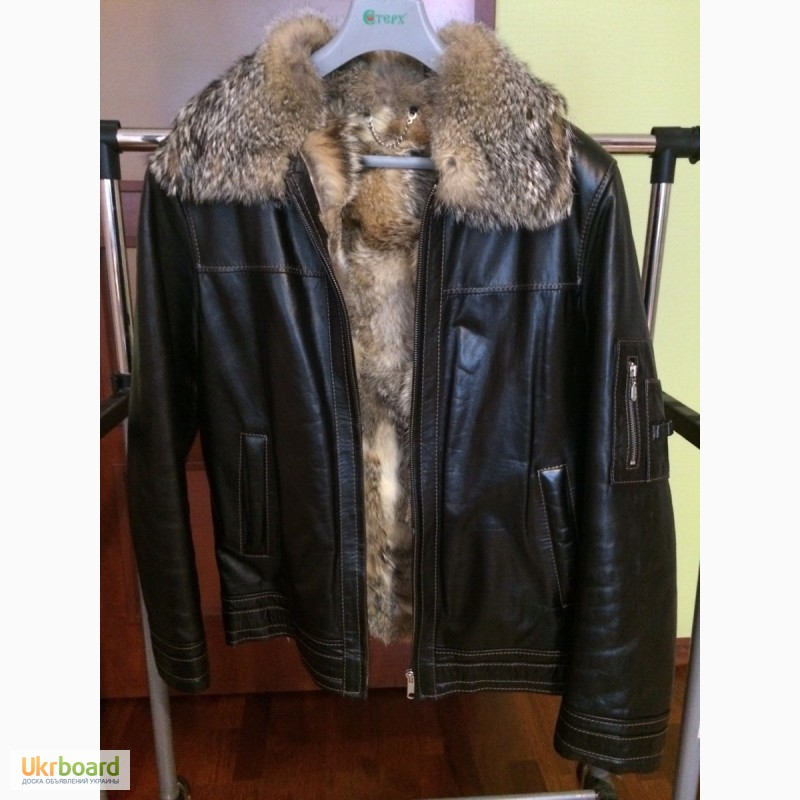 4c77f7fc562 Продам кожаную куртку с мехом волка ...